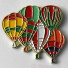 6 Six Group Flying Hot Air Balloon Balloons Lapel Pin 1 Inch