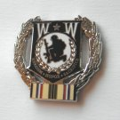 Wounded Warrior Heroism Honor Sacrifice Desert Storm Wreath Lapel Pin 1.1 Inch