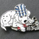 Railroad Dog With Toy Train Lapel Pin Badge 7/8 Inch
