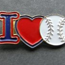 I Heart Love Baseball Lapel Pin Badge 1 Inch