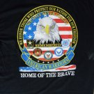 American Warriors Cotton Graphic T-Shirt Large Or X-Large Military