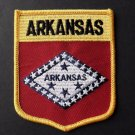 Arkansas US State Shield Embroidered Patch 3.5 X 2.7 Inches