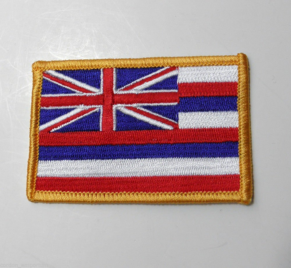 United States Hawaii State Embroidered Patch 2 X 3 Inches