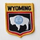 Wyoming US State Shield Embroidered Patch 3 X 3.5 Inches