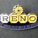 Reno Nevada The Biggest Little City In The World Hat Lapel Pin Badge 3/4 Inch
