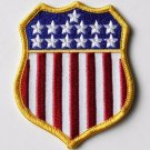 USA Flag Shield Embroidered Patch 3 Inches