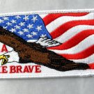 """USA The Brave American Flag Eagle United States America Embroidered Patch 4.5 """""""""""