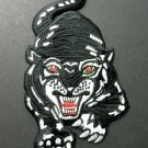 Black Tiger Big Cat Embroidered Patch 6.25 X 3.5 Inches