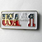 United States USA Is Number 1 Pin Badge Lapel Pin 1 Inch