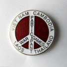 Peace Sign War Games Participant Laos Badge Cambodia Vietnam Lapel Pin 1 Inch