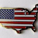 United States USA Flag Map Emblem Lapel Hat Pin Badge 1 Inch