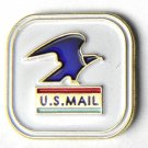 US Mail Service Postal USA America Logo Lapel Pin Badge 3/4 Inch