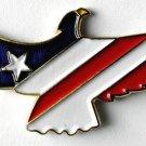 USA Flag Patriotic Eagle  Enamel Lapel Pin 1.3 Inches