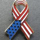 United States USA Ribbon Patriotic Lapel Pin Badge 1.1 Inches