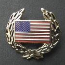 USA Flag Wreath Insignia Cap Hat Jacket Lapel Pin Approximately 1.25 Inches