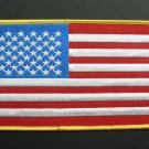 USA United States Of America Embroidered Jacket Patch 6.75 X 4.1 Inches