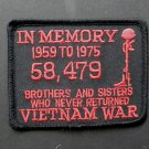 Vietnam Veteran In Memory Embroidered Patch 3.2 Inches