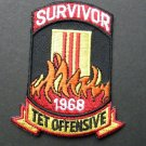 Vietnam Tet Offensive Veteran Embroidered Patch 2.7 Inches
