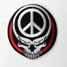 Skull Death Wings Peace  Embroidered Patch 3 Inches