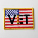 Vietnam Veteran Vet USA Flag Embroidered Patch 3 Inches