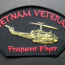 Vietnam Veteran Frequent Flyer Huey Embroidered Patch 5 X 3 Inches