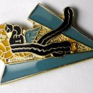 American Volunteer Group US Air Force Chinese Flying Tigers Lapel Badge 1 Inch