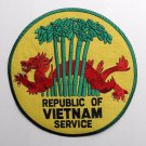 Republic Of Vietnam Service Veteran Vet Large Embroidered Patch 10 Inches