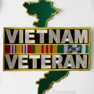 Vietnam Veteran Extra Large Embroidered 9.75 X 11 Inch Patch
