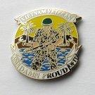 Vietnam Vet Combat Veteran USA And Damn Proud Of It Lapel Pin Badge 1 Inch