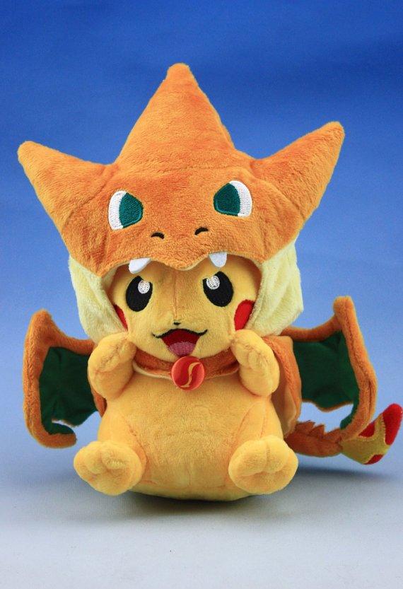 Pikachu Plush with MEGA Charizard Clothing Doll Pokemon / Pocket Monster 8inches