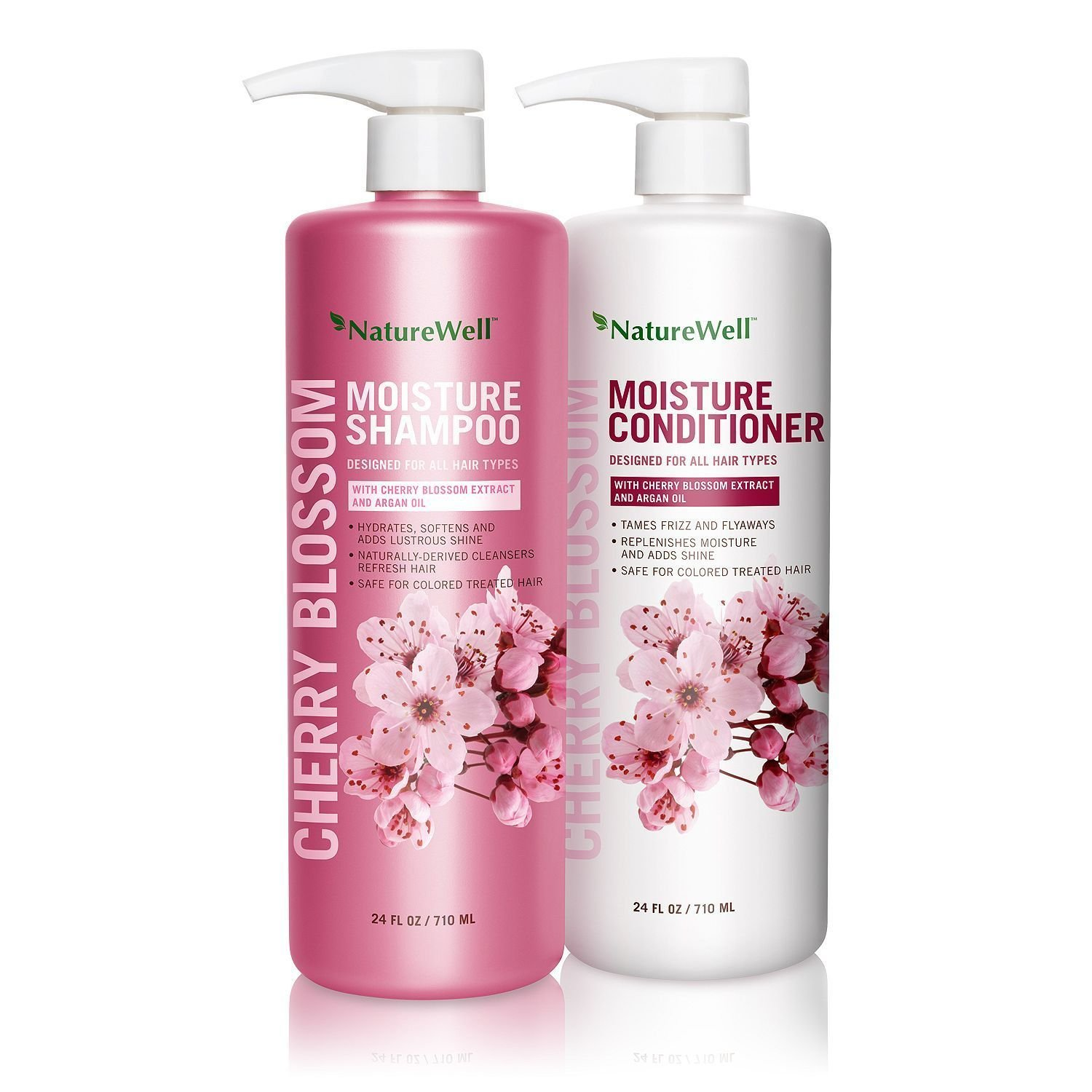 Nature Well Cherry Blossom Moisture Shampoo & Conditioner (24 fl. oz, 2 pk.) NEW