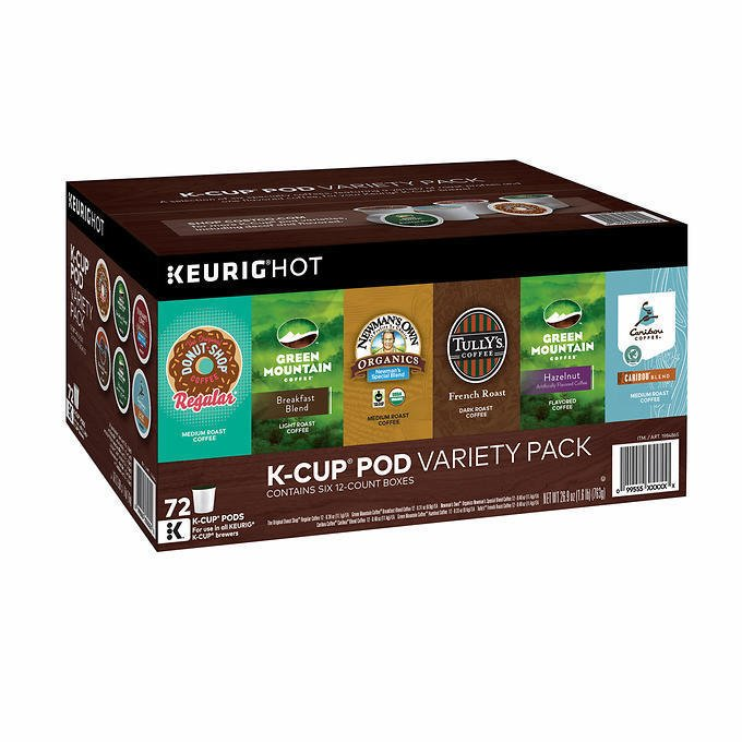 Green Mountain Coffee Variety Pack 72 K-Cup Pods BRAND NEW