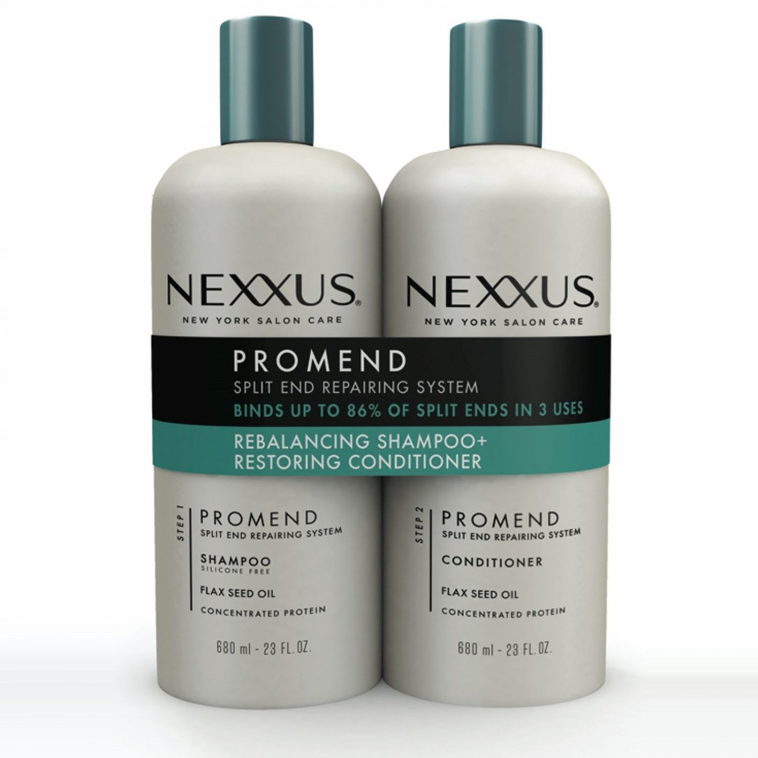 Nexxus Salon Hair Care Pro Mend Daily Shampoo and Conditioner Twin Pack, 23 oz.