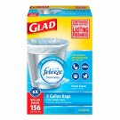Glad Febreze Odor Shield 4-gal.lon Trash Bags, 156 ct. - White