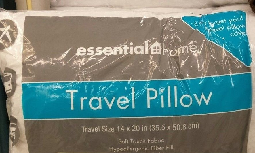 Travel Pillow travel size 14x20 Hypoallergenic fiber fill Brand New