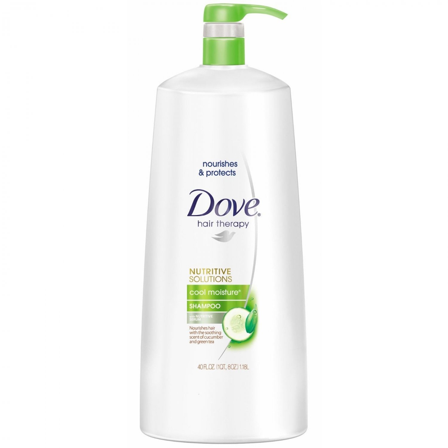 Dove Cool Moisture Shampoo, 40 oz Pump NEW