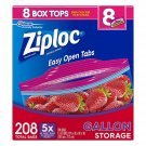 Ziploc Easy Open Tabs Storage Gallon Bags 208ct