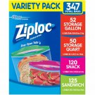 Ziploc Storage Bags, Various Sizes, 347 ct