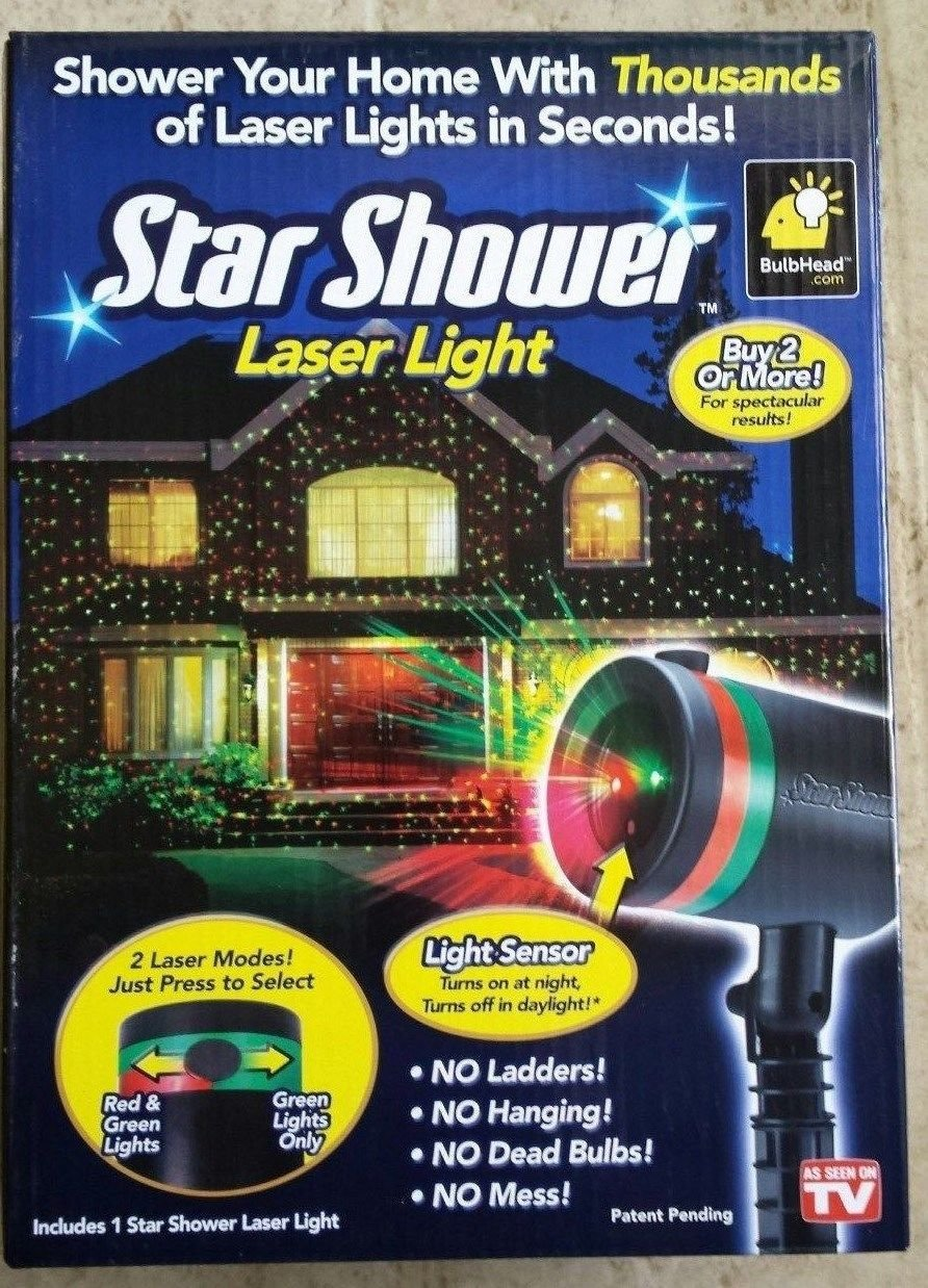 Star Shower Laser Light Projector Light Show FOR CHRISTMAS (1) BRAND NEW