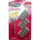 Schick Quattro For Women Razor With 12 Refill Cartridges NEW