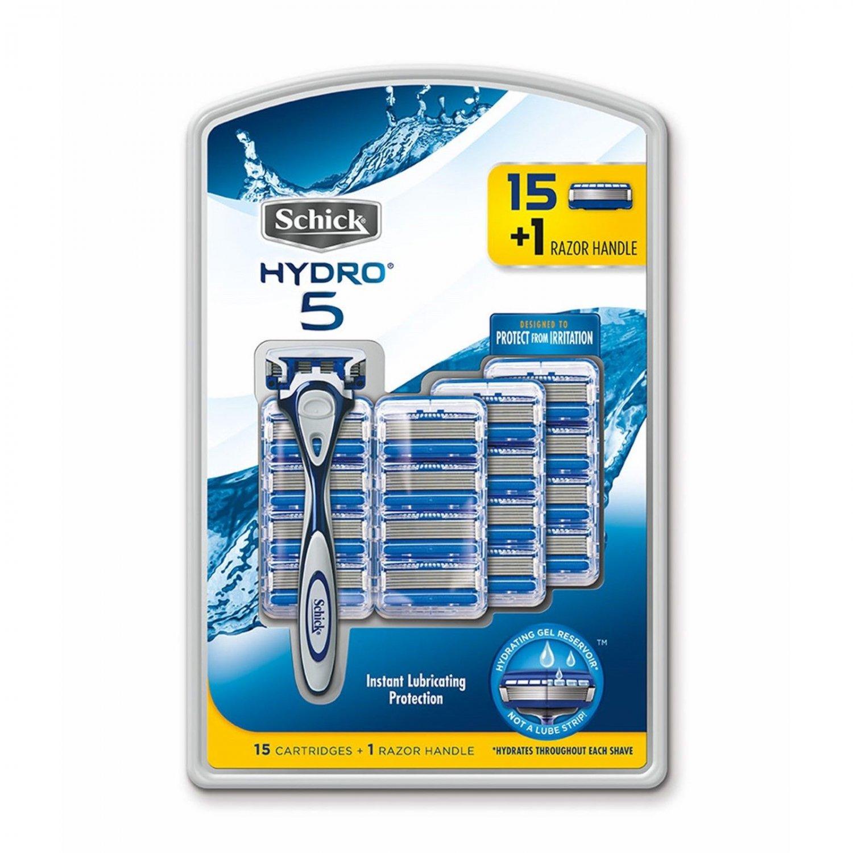 Schick Hydro 5 Razor and Refill Pack, 15 ct BRAND NEW