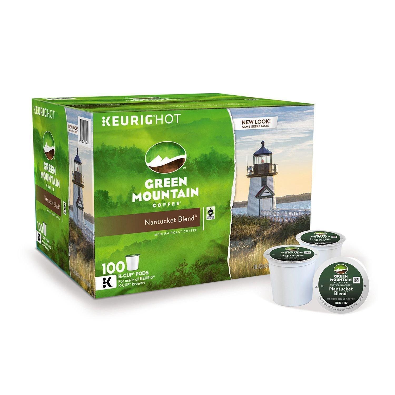 Green Mountain Coffee Nantucket Blend 100 ct K-Cup  Packs