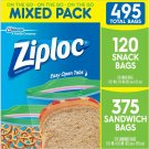 Ziploc Mixed Pack, 495 ct.