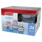 Rubbermaid 34-piece Lock-its Food Storage Container Set BRAND NEW