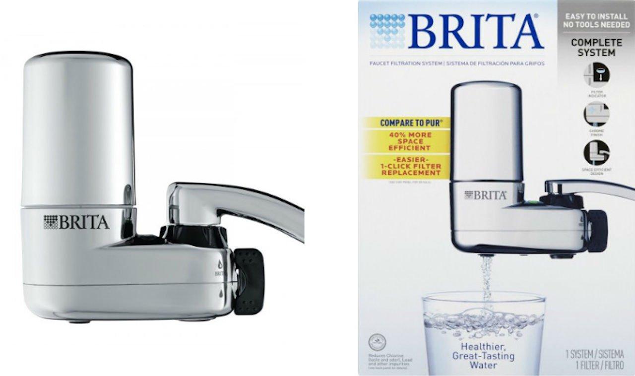 Brita Faucet Filtration System Chrome BRAND NEW