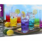 8 Piece Acrylic Tumbler Set, 24oz- Perfect Indoors or Outdoors BRAND NEW