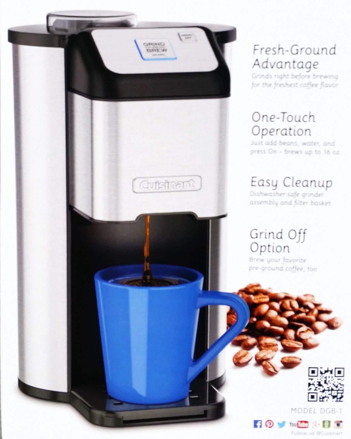 Cuisinart Single Cup Coffee Grind & Brew BRAND NEW