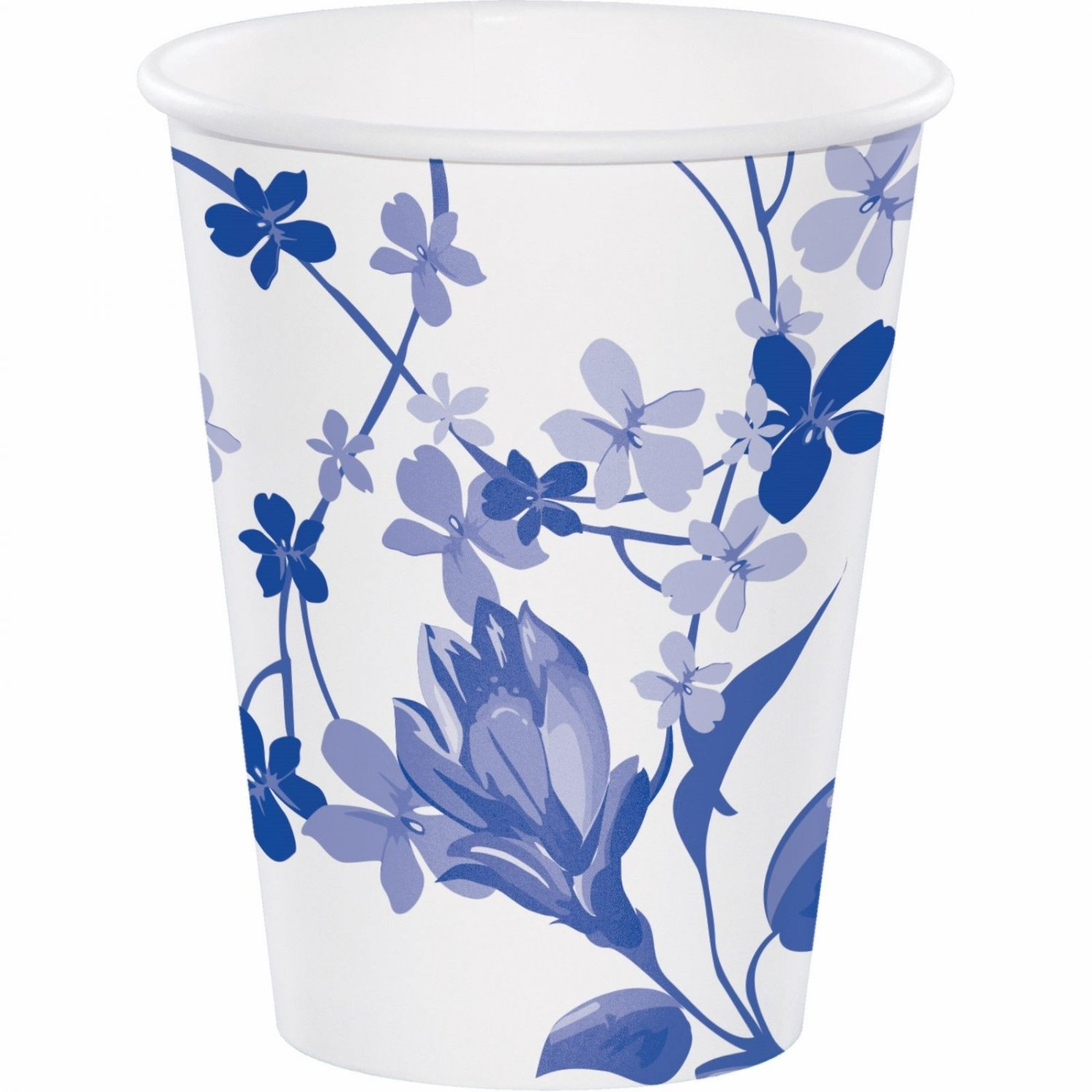 Artstyle 12-Oz. Hot or Cold Cups, 40 ct. - Blue Flower NEW In Package