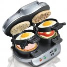 Hamilton Beach Dual Breakfast Sandwich Maker 25490 NEW