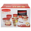 Rubbermaid 56-Pc. Food Container Set NEW
